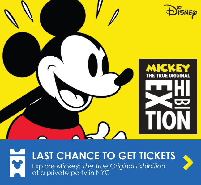 LAST CHANCE TO GET TICKETS - Explore Mickey: The True Original Exhibition at a private party in NYC