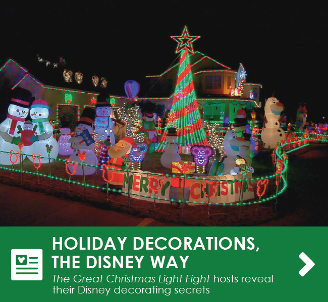HOLIDAY DECORATIONS, THE DISNEY WAY - The Great Christmas Light Fight hosts reveal their Disney decorating secrets