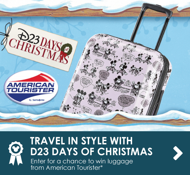 TRAVEL IN STYLE WITH D23 DAYS OF CHRISTMAS - Enter for a chance to win luggage from American Tourister*