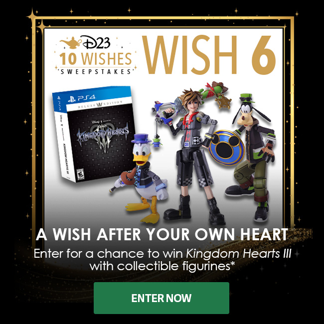 A WISH AFTER YOUR OWN HEART - Enter for a chance to win Kingdom Hearts III with Collectible Figurines - ENTER NOW