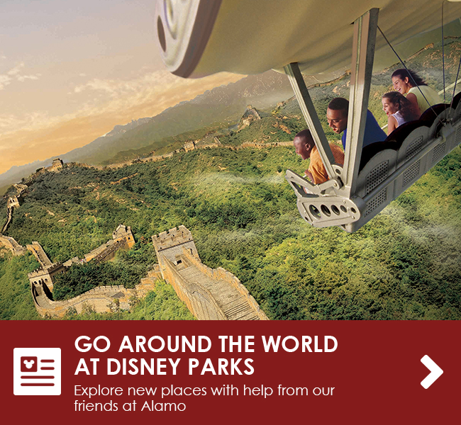 GO AROUND THE WORLD AT DISNEY PARKS - Explore new places with help from our friends at Alamo
