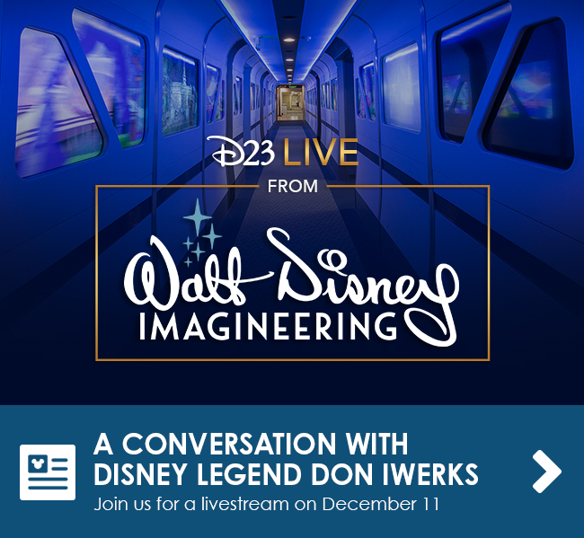 A CONVERSATION WITH DISNEY LEGEND DON IWERKS - Join us for a livestream on December 11