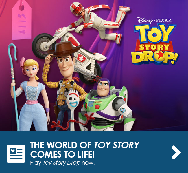 THE WORLD OF TOY STORY COMES TO LIFE! - Play Toy Story Drop now!