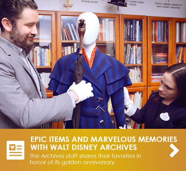 EPIC ITEMS AND MARVELOUS MEMORIES - The Archives staff shares their favorites in honor of their golden anniversary