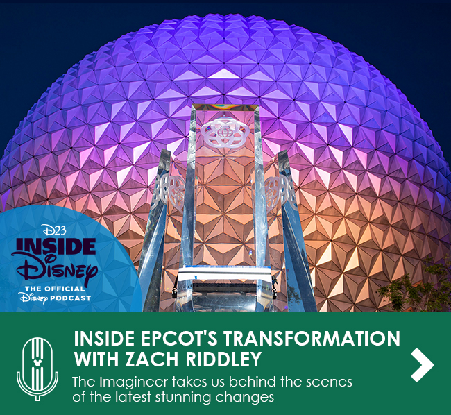 INSIDE EPCOT'S TRANSFORMATION WITH ZACH RIDDLEY - The Imagineer takes us behind-the-scenes of the stunning, new fountain