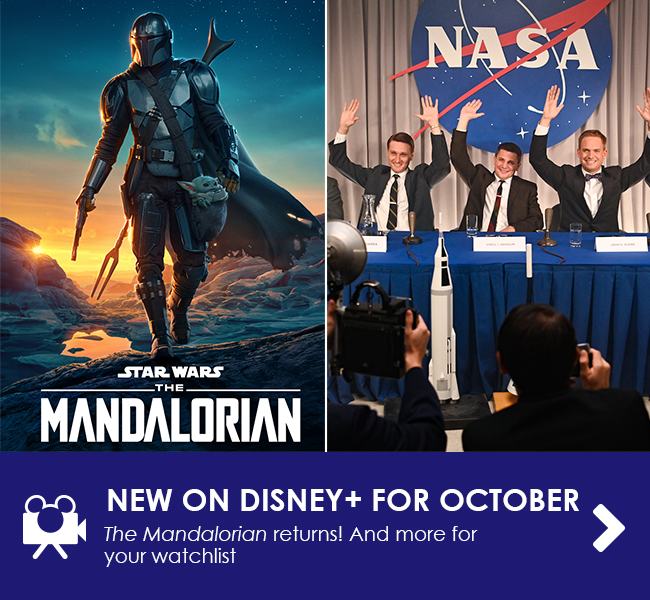 NEW ON DISNEY+ FOR OCTOBER - The Mandalorian returns! And more for your watchlist