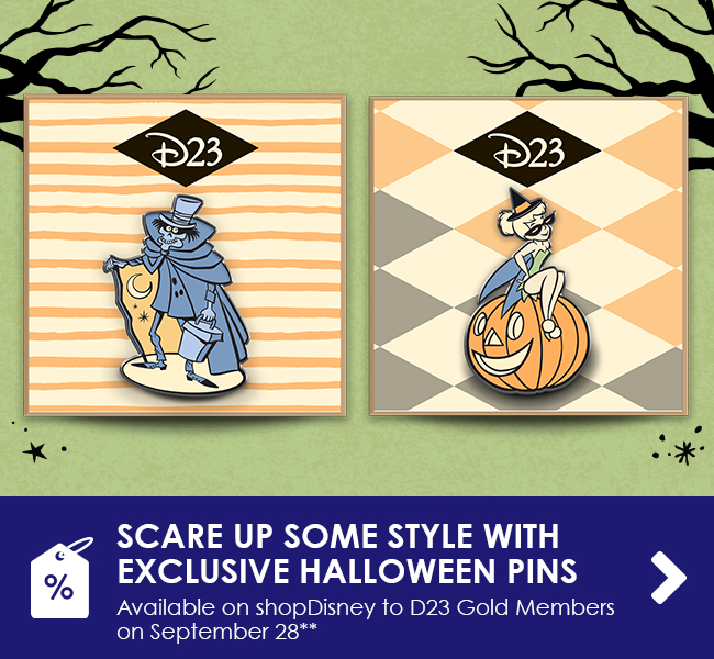 SCARE UP SOME STYLE WITH EXCLUSIVE HALLOWEEN PINS - Available on shopDisney to D23 Gold Members on September 28**