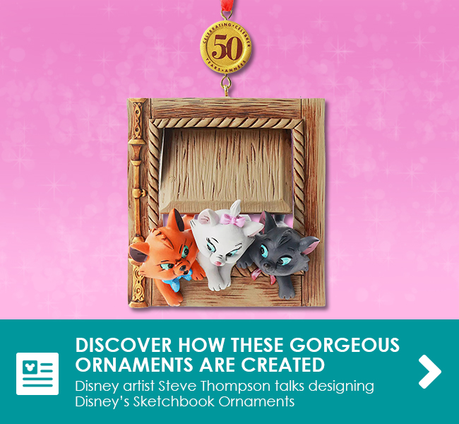DISCOVER HOW THESE GORGEOUS ORNAMENTS ARE CREATED - Disney artist Steve Thompson talks designing Disney's Sketchbook Ornaments