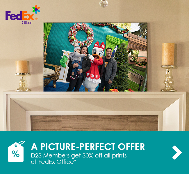 A PICTURE-PERFECT OFFER - D23 Members get 30% off all prints at FedEx Office