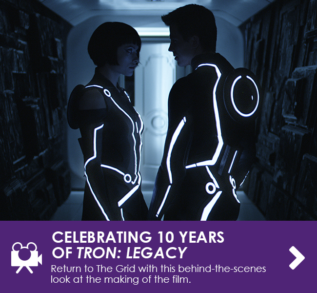 CELEBRATING 10 YEARS OF TRON: LEGACY - Return to The Grid with this behind-the-scenes look at the making of the film.