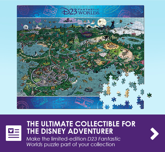 THE ULTIMATE COLLECTIBLE FOR THE DISNEY ADVENTURER - Make the limited-edition D23 Fantastic Worlds puzzle part of your collection