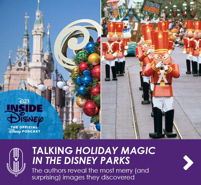 TALKING HOLIDAY MAGIC IN THE DISNEY PARKS - The authors reveal the most merry (and surprising) images they discovered