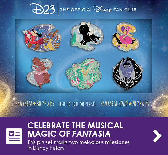 CELEBRATE THE MUSICAL MAGIC OF FANTASIA - This pin set marks two melodious milestones in Disney history