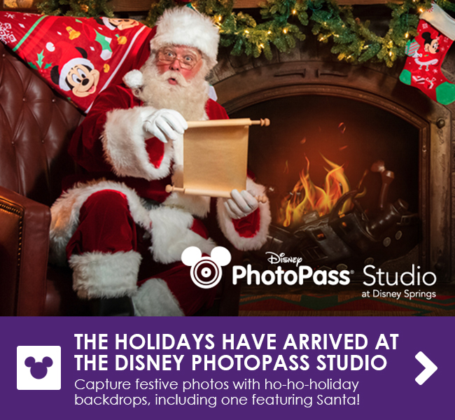 THE HOLIDAYS HAVE ARRIVED AT THE DISNEY PHOTOPASS STUDIO - Capture festive photos with ho-ho-holiday backdrops, including one featuring Santa