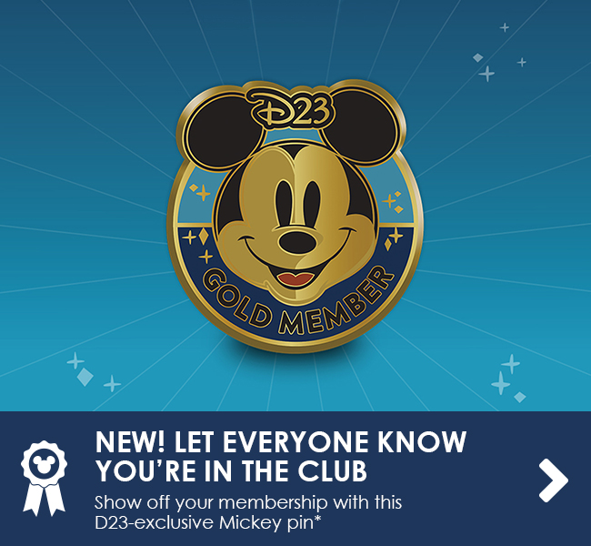 NEW! LET EVERYONE KNOW YOU'RE IN THE CLUB - Show off your membership with this D23-exclusive Mickey pin*