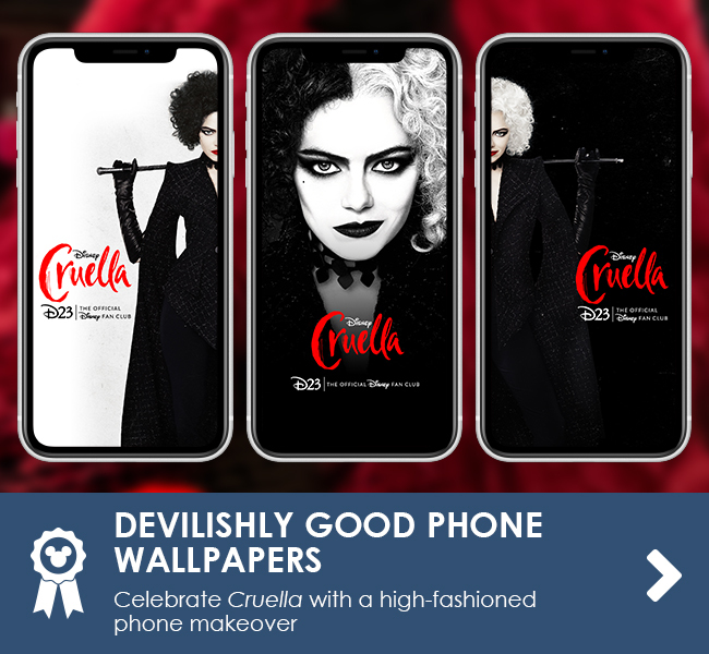 DEVILISHLY GOOD PHONE WALLPAPERS - Celebrate Cruella with a high-fashioned phone makeover