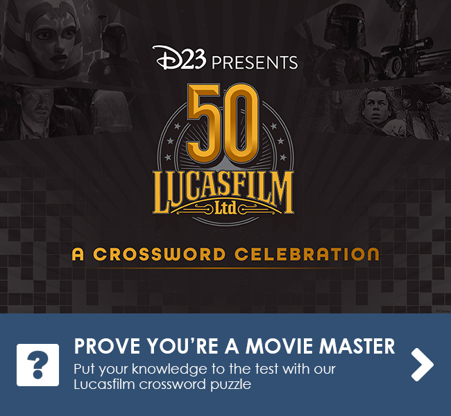 PROVE YOU'RE A MOVIE MASTER - Put your knowledge to the test with our Lucasfilm crossword puzzle