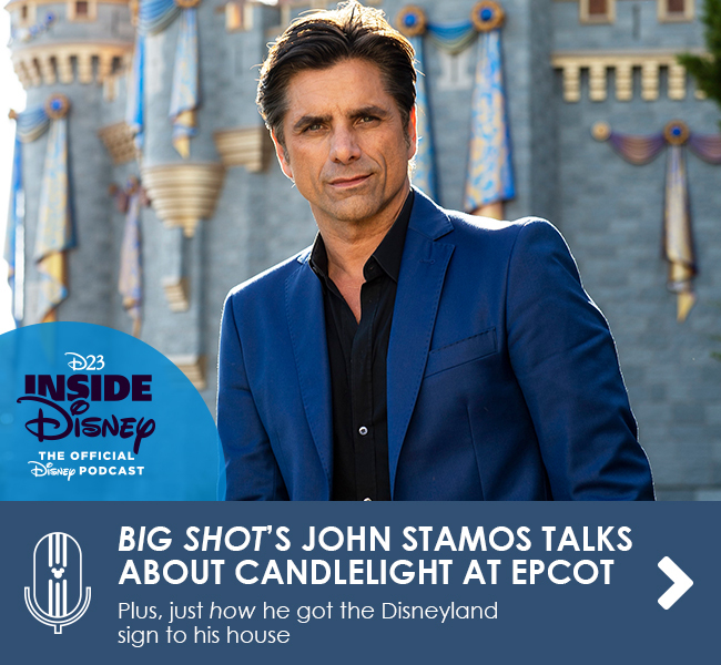 BIG SHOT'S JOHN STAMOS TALKS ABOUT CANDLELIGHT AT EPCOT - Plus, just how he got the Disneyland sign to his house