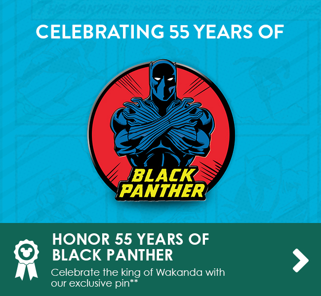 HONOR 55 YEARS OF BLACK PANTHER - Celebrate the king of Wakanda with our exclusive pin**