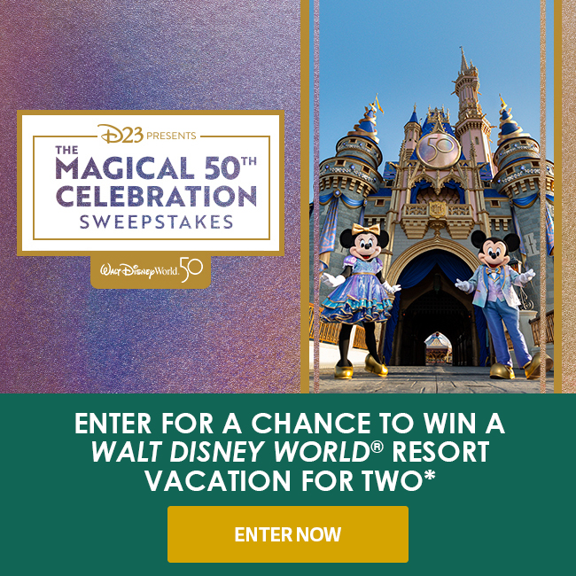 ENTER FOR A CHANCE TO WIN A WALT DISNEY WORLD® RESORT TRIP FOR TWO* - ENTER NOW