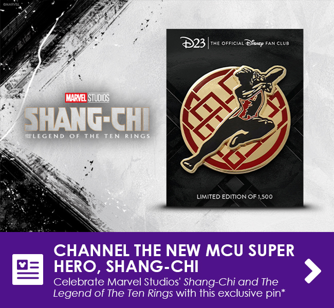 CHANNEL THE NEW MCU SUPER HERO, SHANG-CHI - Celebrate Marvel Studios' Shang-Chi and the Legend of the Ten Rings with this exclusive pin*