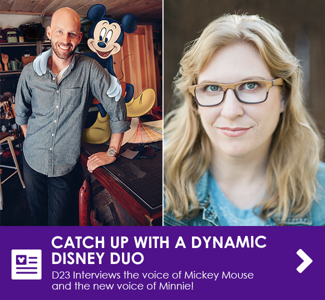 CATCH UP WITH A DYNAMIC DISNEY DUO - D23 interviews the voice of Mickey Mouse and the new voice of Minnie!