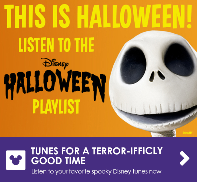 TUNES FOR A TERROR-IFFICLY GOOD TIME - Listen to your favorite spooky Disney tunes now